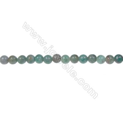 Natural dragon blood jade smooth beaded strand, Diameter 4mm, Hole  0.8mm, 92 beads/strand 15~16""