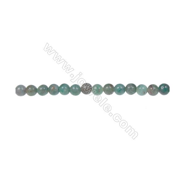 """Natural dragon blood jade smooth beaded strand, Diameter 4mm, Hole  0.8mm, 92 beads/strand 15~16"""""""
