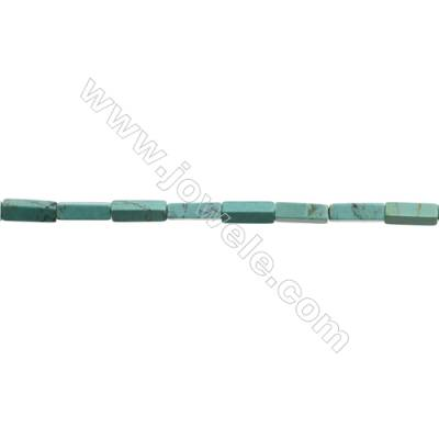 Natural Turquoise Beads Strand  Cuboid  4x4x13mm  Hole 1mm  about 30 beads/strand  15-16""