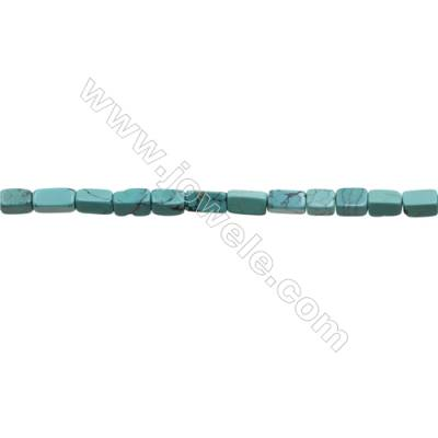Natural Turquoise Beads Strand  Cuboid  5x5x9mm  Hole 0.8mm  about 42 beads/strand  15-16""