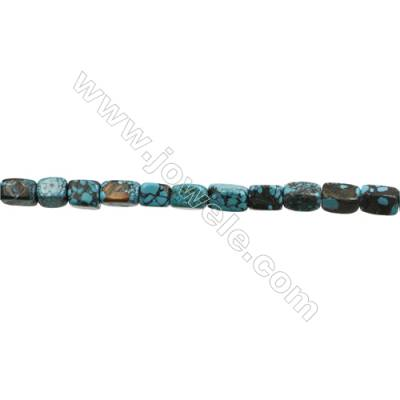 Natural Turquoise Beads Strand  Cuboid  7x7x10mm  Hole 1mm  about 33 beads/strand  15-16""