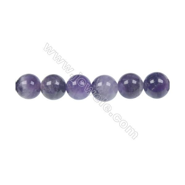 Dog-teeth amethyst round strand beads diameter 12 mm  hole 1.2 mm  33 beads /strand 15 ~ 16 ''
