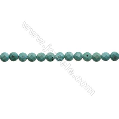 Natural Turquoise Beads Strand  Faceted Rondelle  5x7mm  Hole 0.8mm  about 58 beads/strand  15-16""