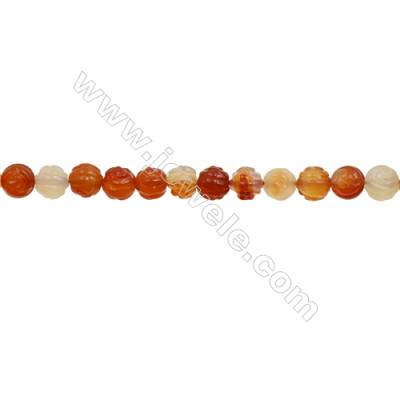 Natural Carnelian Beads Strand  Rose  Diameter 10mm  hole 1.5mm  about 38 beads/strand 15~16""