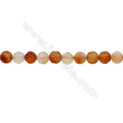 Natural Carnelian Beads Strand  Rose  Diameter 12mm  hole 1.5mm  about 33 beads/strand 15~16""