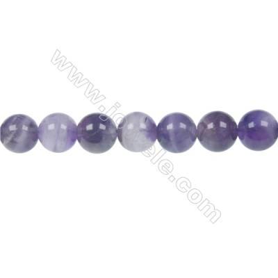 Dog-teeth amethyst round strand beads diameter 10 mm  hole 1 mm  40 beads /strand 15 ~ 16 ''