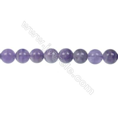 Natural Dog-teeth Amethyst Bead Strands  Round  Diameter 10mm beads  Hole 1 mm  50 beads/strand 15 ~ 16""