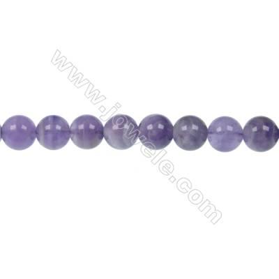 "Natural Dog-teeth Amethyst Bead Strands  Round  Diameter 10mm beads  Hole 1 mm  50 beads/strand 15 ~ 16"""