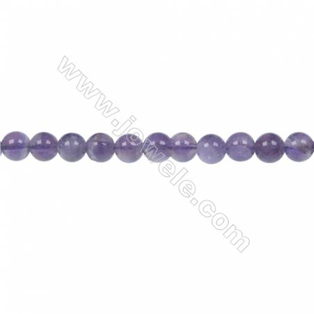 Dog-teeth amethyst round beaded strand diameter 6 mm  hole 1 mm  68 beads /strand 15 ~ 16 ''