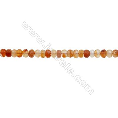 Natural Carnelian Beads Strand  Faceted Abacus  Size 5x8mm  hole 1mm  about 75 beads/strand 15~16""