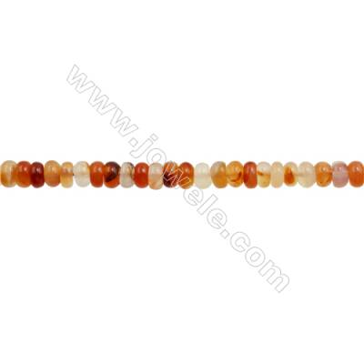 Natural Carnelian Beads Strand  Abacus  Size 5x8mm  hole 1mm  about 75 beads/strand 15~16""
