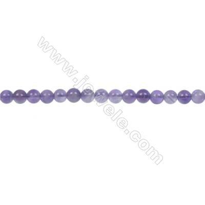 Dog-teeth amethyst round strand beads diameter 4 mm  hole 1 mm  96 beads /strand 15 ~ 16 ''