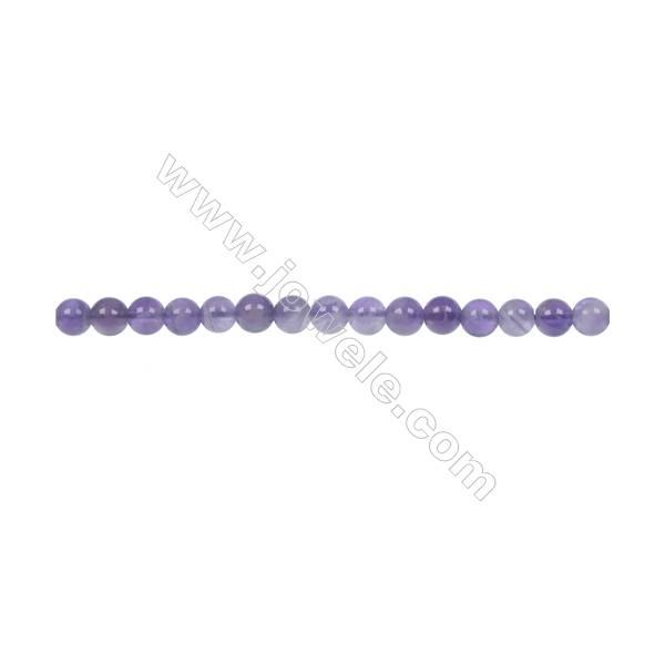 Dog-teeth amethyst round strand beads diameter 4 mm  hole 1 mm  96 beads /strand 15 ~ 16 ''
