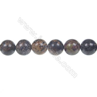 Artistic jasper round beaded strand, Diameter 12 mm, Hole 1.5 mm, 34 beads /strand 15 ~ 16''
