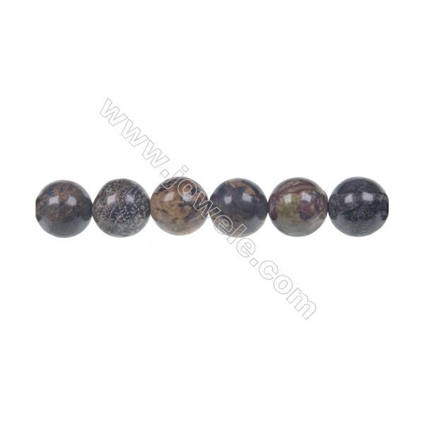 Artistic jasper round beaded strand, Diameter 12 mm, Hole 1.5 mm, 34 beads /strand 15 ~ 16''