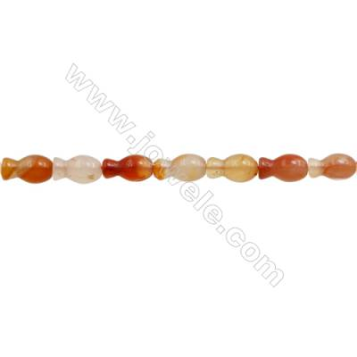 Natural Carnelian Beads Strand  Vase  Size 8x14mm  hole 18mm  about 26 beads/strand 15~16""