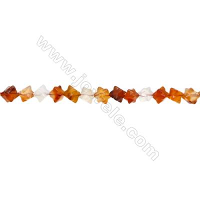 Natural Carnelian Beads Strand  Star  Size 8x8mm  hole 0.8mm  about 48 beads/strand 15~16""