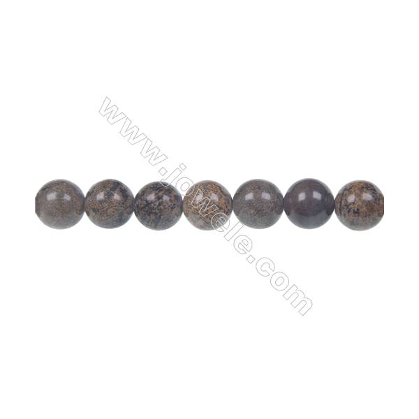 Artistic jasper round strand beads, Diameter 10 mm, Hole 1.2 mm, 40 beads/strand 15 ~ 16''