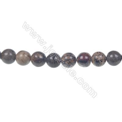 Artistic jasper round strand beads, Diameter 8 mm, Hole 1.2 mm, 51 beads /strand 15 ~ 16''