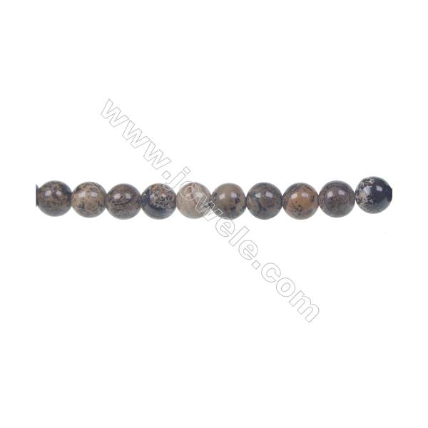 "Artistic jasper round strand beads, Diameter 6 mm, Hole 1 mm, 65 beads /strand 15 ~ 16"""
