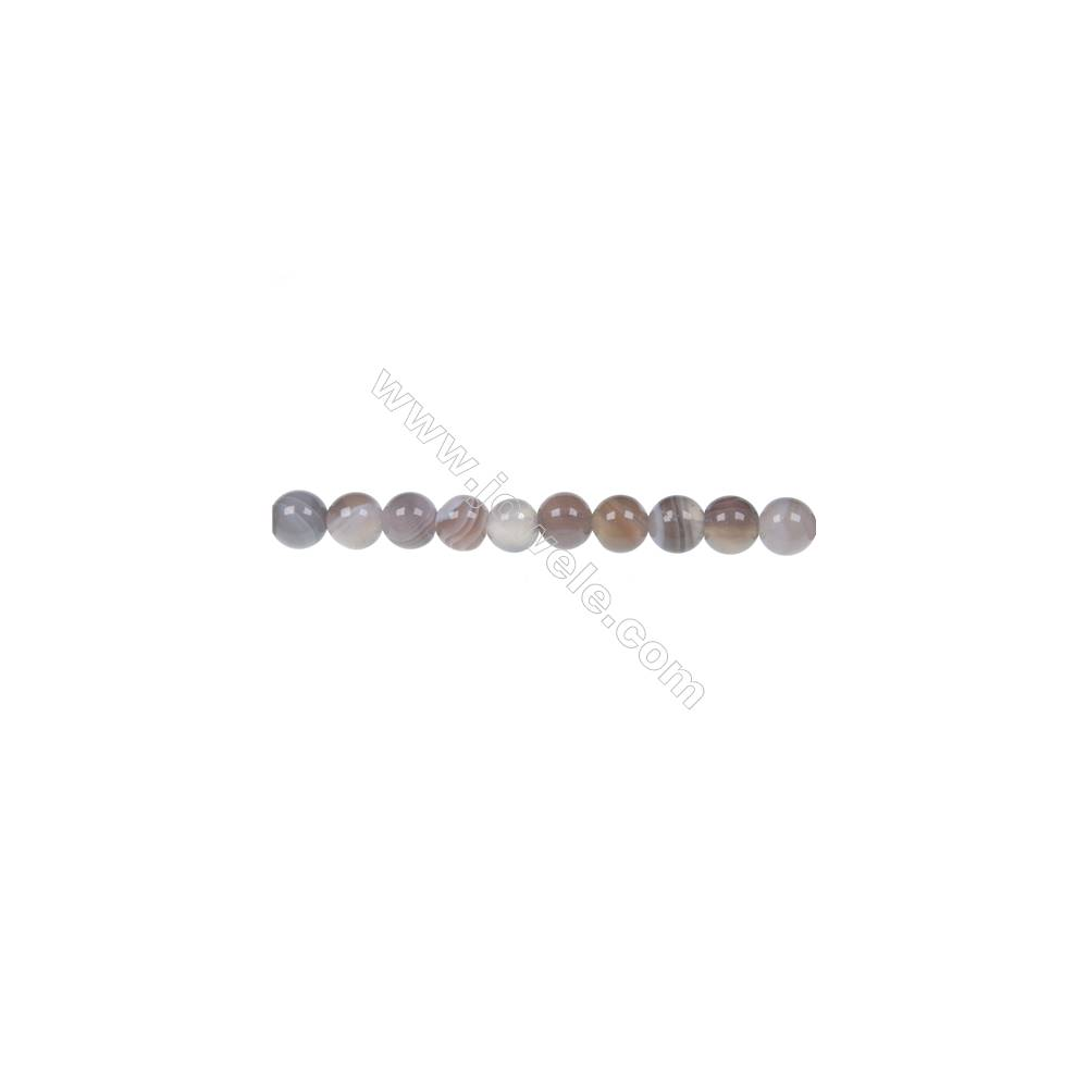 Botswana agate  round  beads strand  diameter 6 mm  hole diameter 1.2 mm  65 beads / strand 15 ~ 16 ''