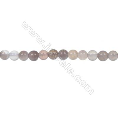 Round Botswana agate  strand beads diameter 4 mm  hole diameter 1 mm  94 beads / strand 15 ~ 16 ''