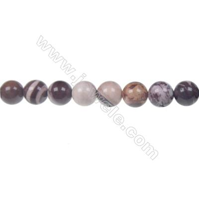 Brown zebra jasper round strand beads, Diameter 8 mm, Hole 1.2 mm, 46 beads/strand 15 ~ 16''