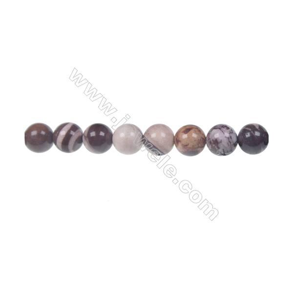 Brown zebra jasper round strand beads, Diameter 8 mm, Hole 1.2 mm, 46 beads/strand 15 ~ 16''