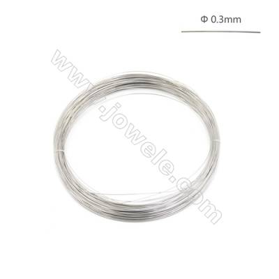 925 Sterling Silver Half-hard Wire  0.3mm  about 62.5meter/50g