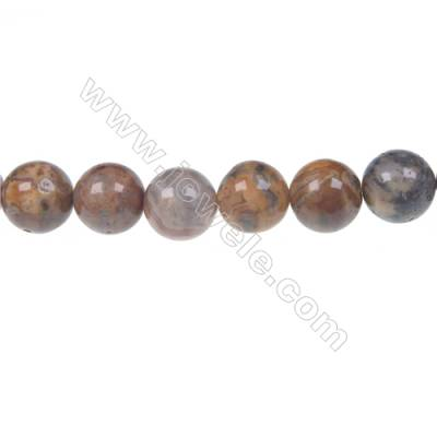 Crazy agate round strand beads in diameter 12 mm  hole diameter 1.5 mm  34 beads /strand 15 ~ 16 ''
