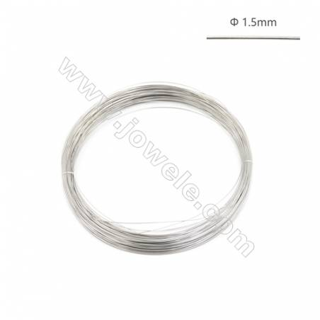 925 Sterling Silver Half-hard Wire  1.5mm  about 3meter/50g