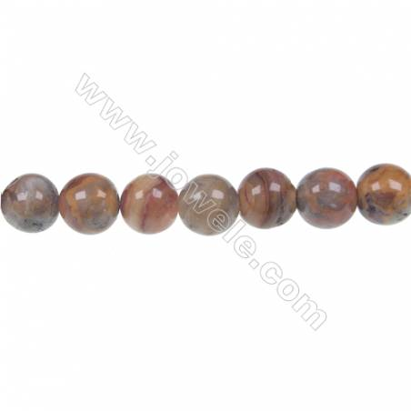 Crazy agate round strand beads in diameter 10 mm  hole diameter 1.5 mm  42 beads /strand 15 ~ 16 ''