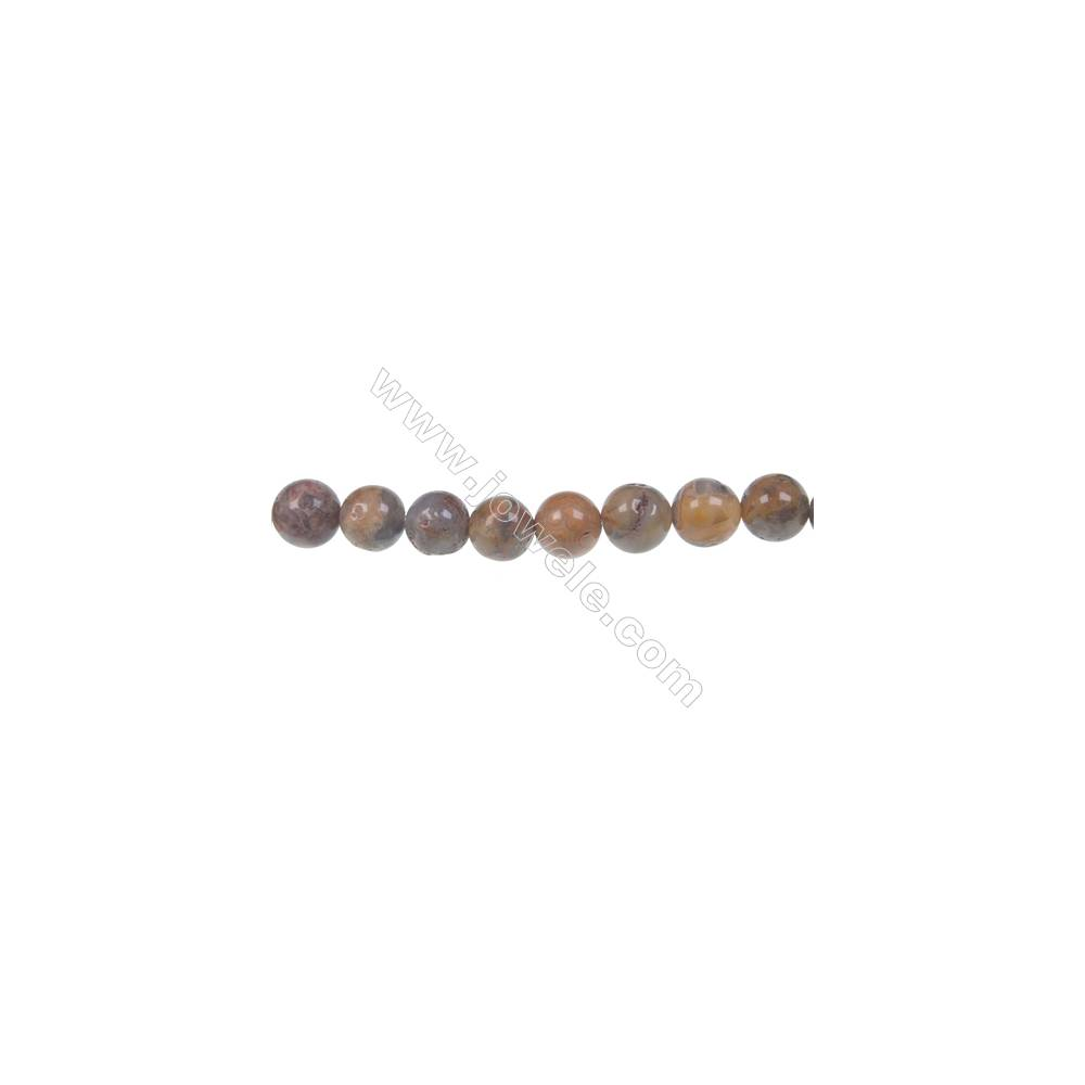 Crazy agate round strand beads in diameter 8 mm  hole diameter 1.2 mm  51 beads /strand 15 ~ 16 ''