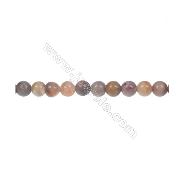 Crazy agate round strand beads in diameter 6 mm  hole diameter 1 mm  68 beads /strand 15 ~ 16 ''