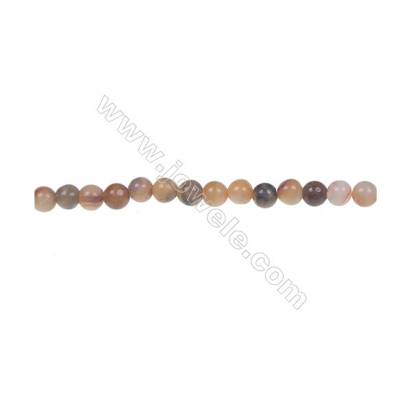 Crazy agate round strand beads in diameter 4 mm  hole diameter 1 mm  98 beads /strand 15 ~ 16 ''