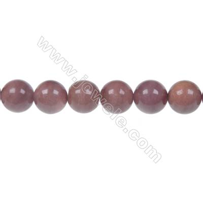 African blood stone /blood jasper round strand beads, Diameter 10 mm, Hole 1.5 mm, 40 beads/strand 15 ~ 16''