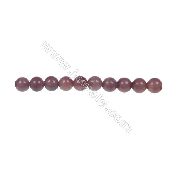 African blood jasper round beaded strand, Diameter 6 mm, Hole 1 mm, 68 beads/strand 15 ~ 16''