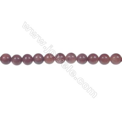 African blood jasper round strand beaded, Diameter 4 mm, Hole 1 mm, 94 beads/strand 15 ~ 16''