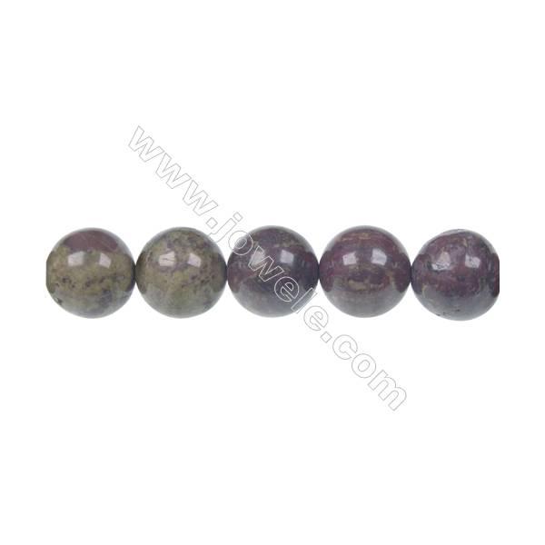 Dragon blood jasper round strand beads, Diameter 12 mm, Hole 1.5 mm, 33 beads/strand 15 ~ 16''