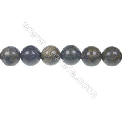 Dragon blood jasper round beaded strand, Diameter 10 mm, hole 1.5 mm, 39 beads/strand 15 ~ 16''