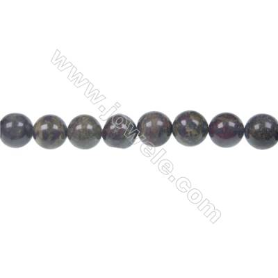 Dragon blood jasper round strand beads, Diameter 8 mm, Hole 1.2 mm, 48 beads/strand 15 ~ 16''