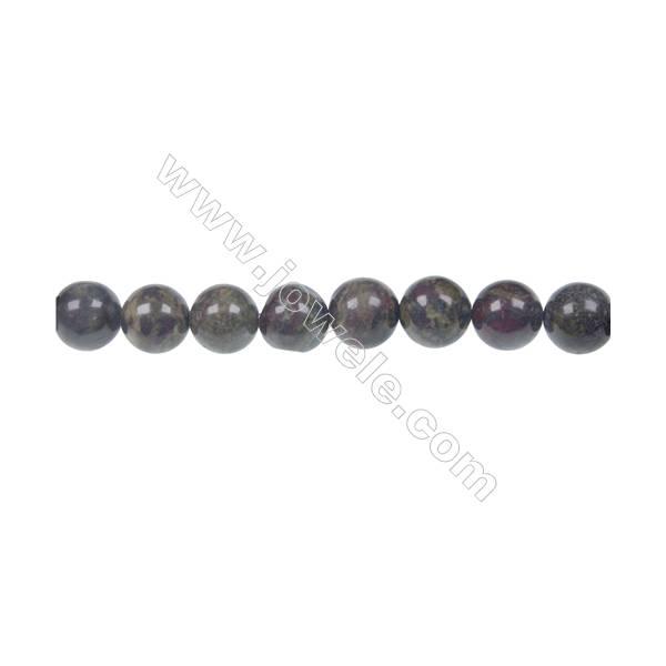 Dragon blood jasper round strand beads, Diameter 8 mm, Hole 1.2 mm, 48 beads/strand 15 ~ 16''