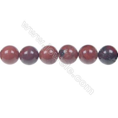 Apple jasper round strand beads, Diameter 12 mm, Hole 1.5 mm, 33 beads/strand 15 ~ 16''