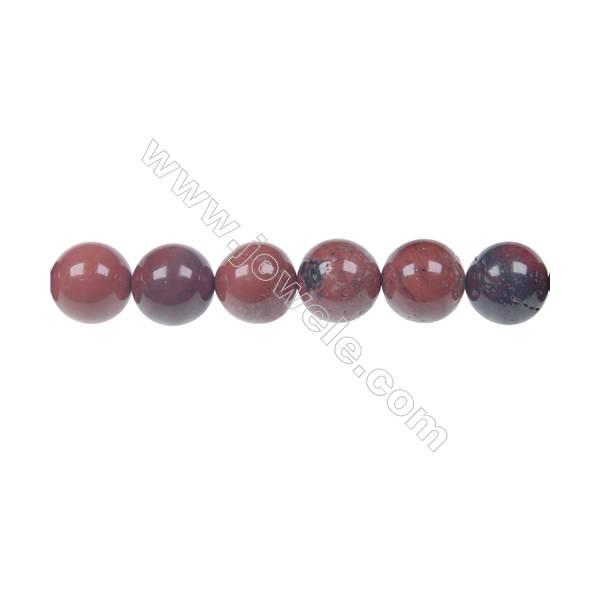 Apple jasper round strand beads, Diameter 12 mm, Hole 1.5 mm, 33 beads/strand 15 ~ 16''