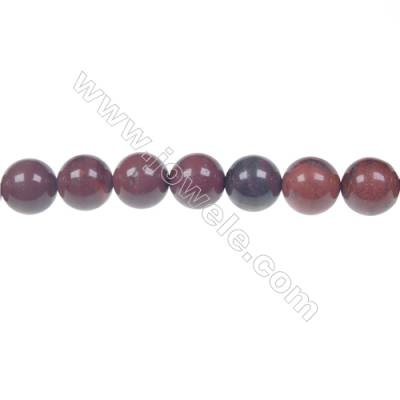Apple jasper round strand beads, Diameter 10 mm, Hole 1.5 mm, 39 beads/strand 15 ~ 16''