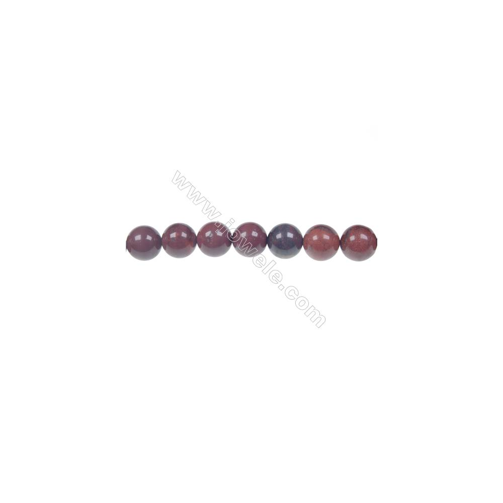 Apple jasper round strand beads, Diameter 10 mm, Hole 1.5 mm, 39 beads/strand 15 ~ 16''