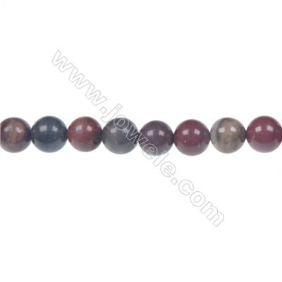 Apple jasper round beaded strand, Diameter 8 mm, Hole 1.2 mm, 49 beads/strand 15 ~ 16''