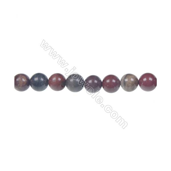 Apple jasper round beaded strand, Diameter 8 mm, Hole 1.2 mm, 49 beads/strand 15 ~ 16''