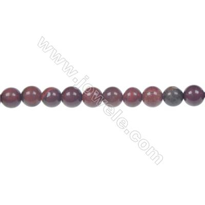 Apple jasper round strand beads, Diameter 6 mm, Hole 1 mm, 64 beads/strand 15 ~ 16''