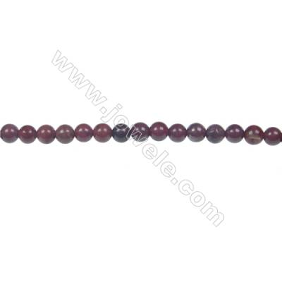 Apple jasper round beaded strand, Diameter 4 mm, Hole 0.8 mm, 96 beads/strand 15 ~ 16''